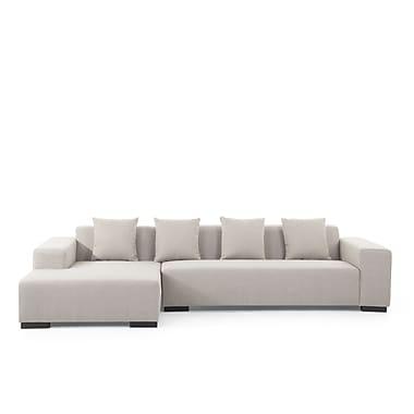 Beliani – Canapé d'angle gauche LUNGO, revêtement en tissu, beige