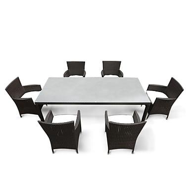 Beliani – Ensemble extérieur de salle à manger ITALY 160 pour 6 personnes, table de patio et chaises