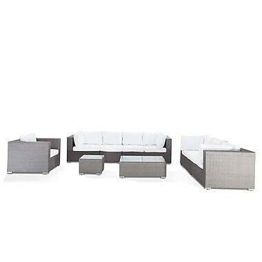 Beliani – Ensemble de salon extérieur MAESTRO en poly rotin gris, meubles d'extérieur luxueux