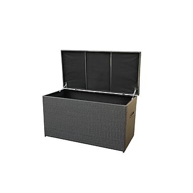 Beliani – Coffre MODENA 160 en poly rotin pour les coussins et les accessoires de jardin et de piscine