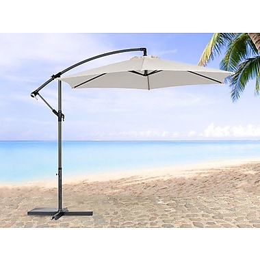 Beliani – Parasol de terrasse en porte-à-faux CAVALLI, crème