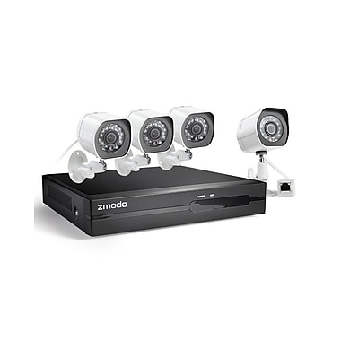 Zmodo CA-SS87DAB4-S 1080p 4CH sPoE NVR with 4 HD Cameras & No HDD