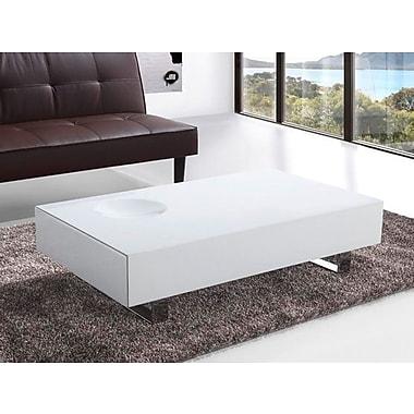 Beliani OVAR Coffee Table in Modern Design, High Gloss White