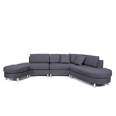 Beliani COPENHAGEN Corner, Sectional Sofa, Couch, 5 Seater, Upholstered, Gre