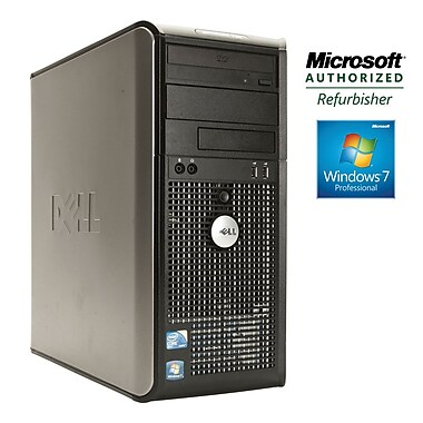Refurbished Dell Optiplex Tower Model # 780 Intel Core 2 Duo E8400 (3.0GHz), 4GB Ram, 250GB Hard Drive