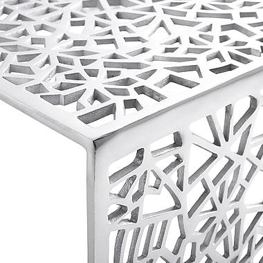 Beliani – Table à café MORONI, table de service, aluminium
