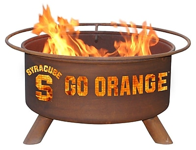 Patina Products Collegiate Fire Pit; Syracuse University