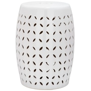 Safavieh Lattice Petal Garden Stool; White