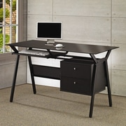 Wildon Home   Hartland Computer Desk w/ 2 Drawers; Black