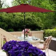 BudgeIndustries 9' Market Umbrella; Burgundy
