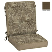 BombayOutdoors Palmetto Outdoor Reversible Chair Cushion; Mocha