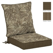 BombayOutdoors Palmetto Outdoor Reversible Dining Chair Cushion; Mocha