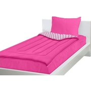 Zipit Bedding 3 Piece Bed in a Bag Set in Pink; Twin