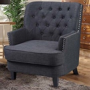 BestMasterFurniture Arm Chair; Charcoal