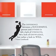 Belvedere Designs LLC Quotes  Lombardi Success One Color Wall Decal