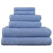 Makroteks Textile L.L.C. Lucia Minelli Jacquard Mei Tal Classic 6 Piece Towel Set; Blue