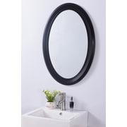Bellaterra Home Oval PVC Frame Mirror; Espresso