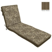 BombayOutdoors Palmetto Reversible Chaise Cushion; Mocha