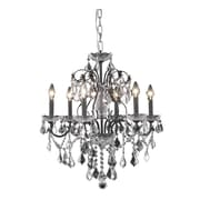 Elegant Lighting St. Francis 6-Light Crystal Chandelier; Royal Cut 12 Light