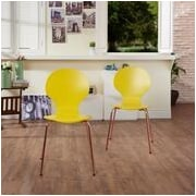Hokku Designs Shelby Side Chair (Set of 4); Yellow