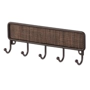 InterDesign Twillo Key Rack Organizer for Entryway, Kitchen, Wall Mount, Bronze (95770)