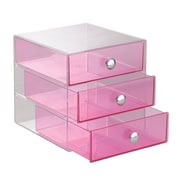 InterDesign Original 3-Drawer Unit, Plastic, Berry (35376)