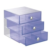 InterDesign, Drawers, Original 3 Drawer, Plastic, Violet (35377)