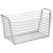 InterDesign Classico Kitchen Pantry Bath Organizer Wire Basket, Medium, Chrome (93222)