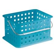 InterDesign Storage Organizer Basket, Small, Azure (61268)