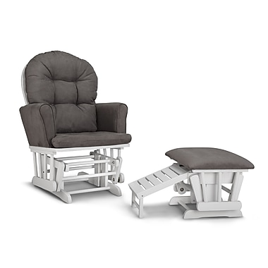 Graco Parker Semi-Upholstered Glider and Ottoman, White
