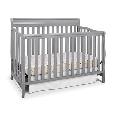 Graco Stanton 4-in-1 Convertible Crib, Grey