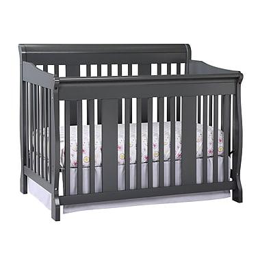 Stork Craft Tuscany 4-in-1 Convertible Crib, Grey