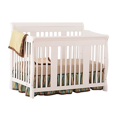 Stork Craft Tuscany 4-in-1 Convertible Crib, White