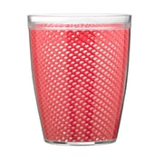 Kraftware Fishnet Double Wall Insulated Tumbler II (Set of 4); Flag Red