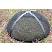 Fire Pit Art Artisan Spark Guard Fire Pit Spark Screen; 16'' H x 27.5'' W x 27.5'' D