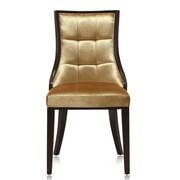 Ceets Barrel Side Chair (Set of 2); Gold Velvet