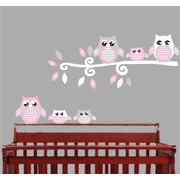 Presto Chango Decor Owl Nursery Wall D cor; Pink