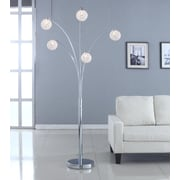 Artiva USA Manhattan 5-Arch Crystal Ball 84'' Arched Floor Lamp