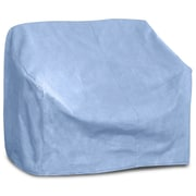 BudgeIndustries All-Seasons Small Outdoor Sofa Cover for Loveseat/Bench; Blue