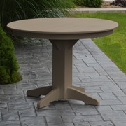 A&L Furniture Dining Table; Weathered Wood
