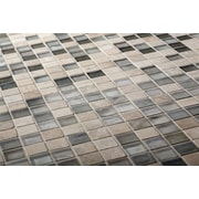 Kellani The Studio 12.13'' x 12.13'' Glass Mosaic Tile in Jubilee