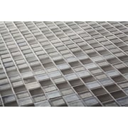 Kellani The Studio 12.13'' x 12.13'' Glass Mosaic Tile in Gravity