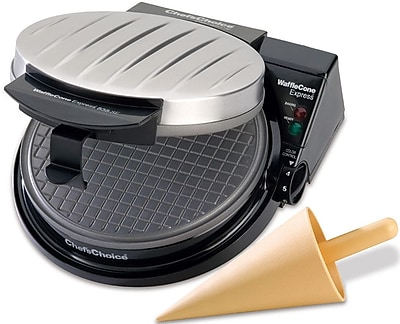 Chef's Choice Cone Waffle Maker w/ Rib Cover WYF078278182992