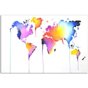 Omax Decor Bright World Original Painting on Canvas