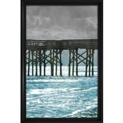 Star Creations ''Teal Docks II'' by Jairo Rodriguez Framed Photographic Print