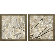 Star Creations ''Pearls in Bloom'' by Asia Jensen 2 Piece Framed Wall Art Set