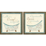 Star Creations ''Blue Bath Time'' by SD Graphics Studio 2 Piece Framed Graphic Art Set