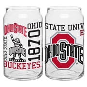 Boelter Brands NCAA 16 Oz. Spirit Can Glass (Set of 2); Ohio State Buckeyes