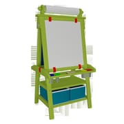Little Partners Folding Marker Tray Magnetic Board Easel; Apple Green