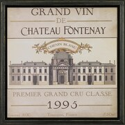 Art Virtuoso 'Vintage Wine Labels' by June Erica Vess Framed Painting Print